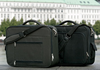 Eine Webeaufnahme für ein Reisekoffer-Set.