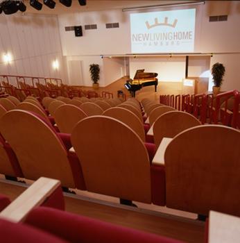 Architektur Aufnahme des Theaters für Veranstaltungen.